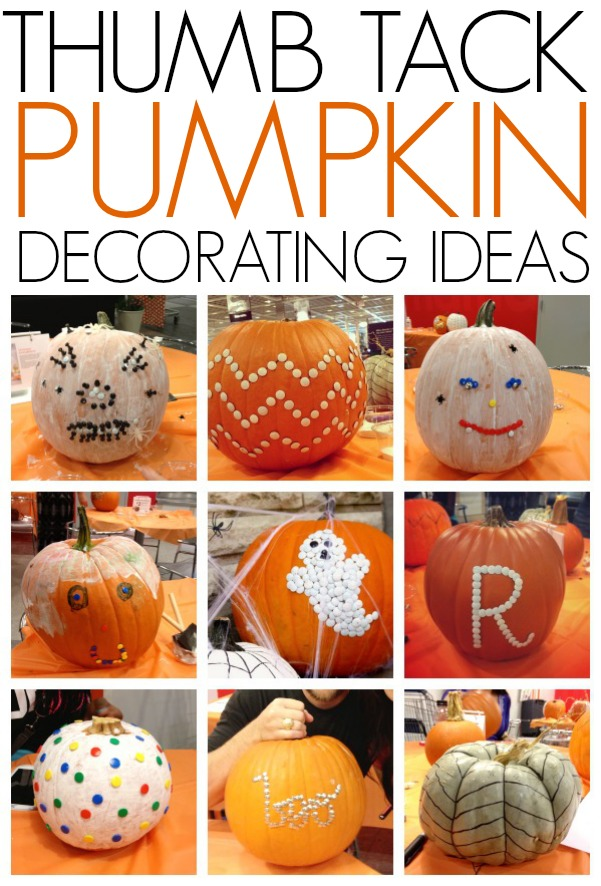 Thumb tack pumpkin decorating ideas