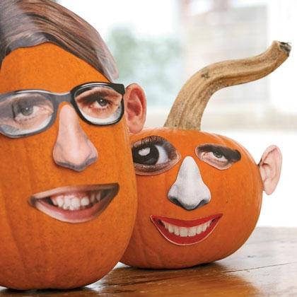 Clever no carve pumpkin decorating