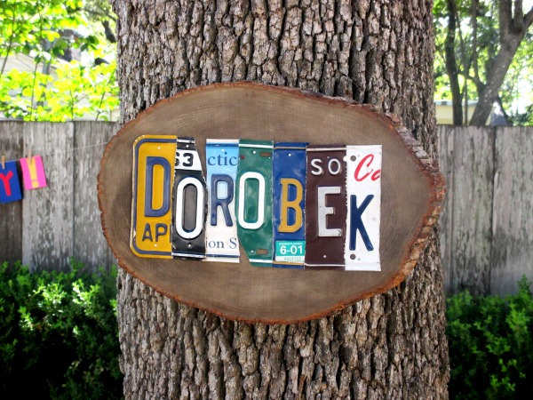 DIY license plate projects