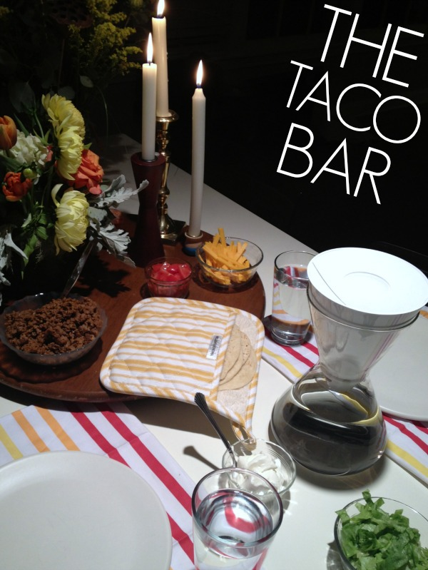 Hosting a taco bar party