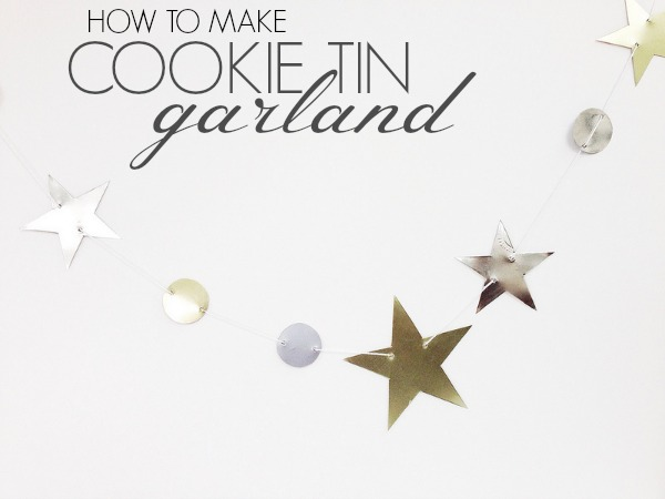 How to make cookie tin garland