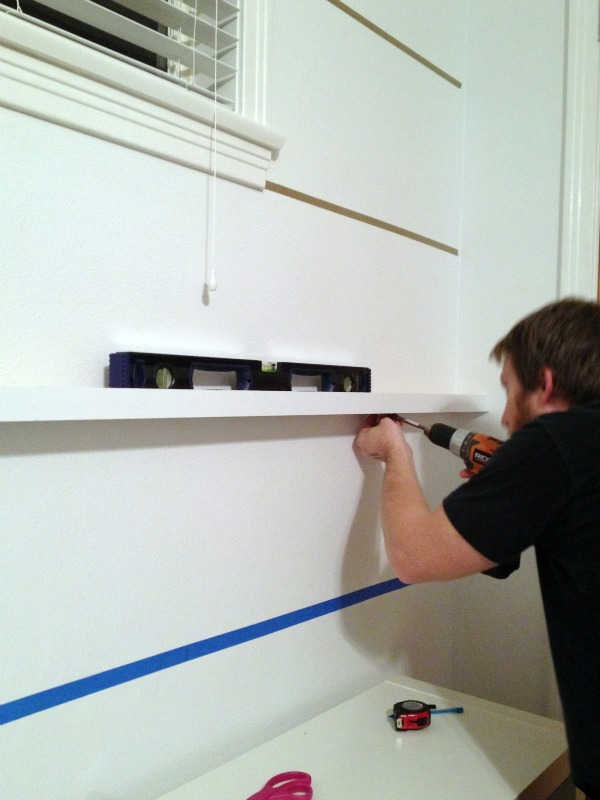 DIY picture ledge shelves