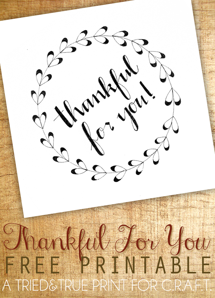 Thankful for you printable - C.R.A.F.T.