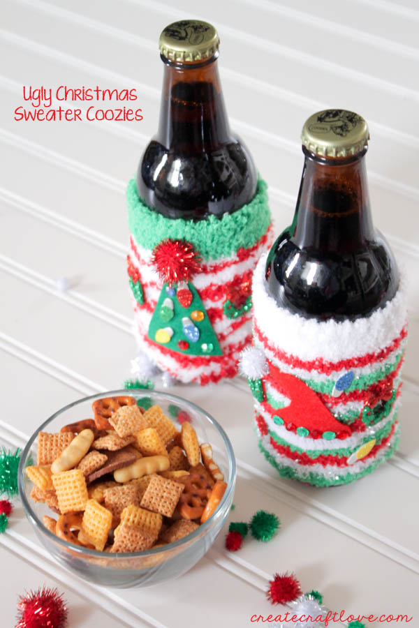DIY Ugly sweater coozies