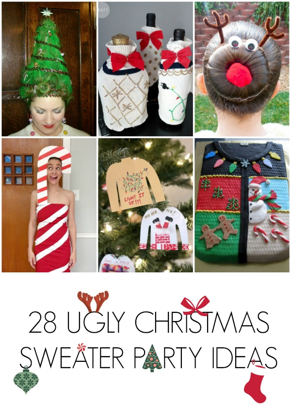 28 ugly christmas sweater party ideas - Ugly Christmas Sweater Party Decorations
