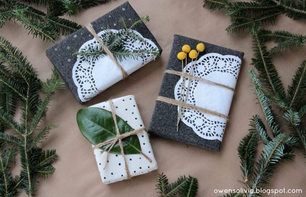 DIY gift wrap out of fabric