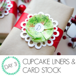 Wrap it Up #5: Cupcake liners & cardstock gift wrap
