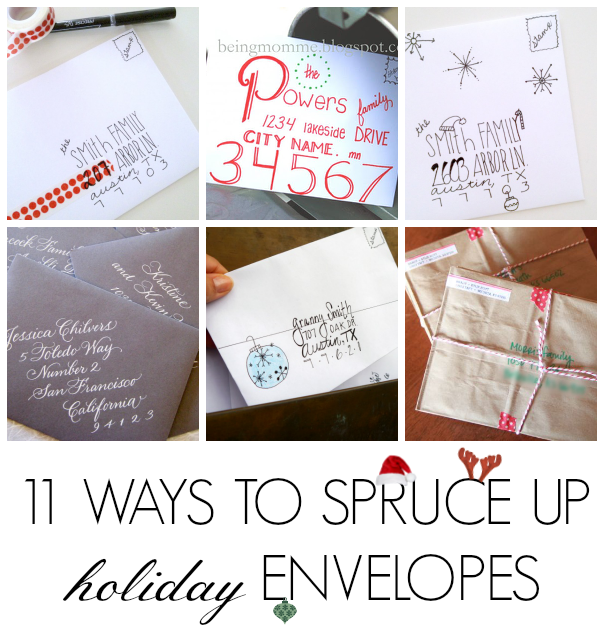 Card Making Envelope Ideas Part - 47: 11 DIY Holiday Envelope Ideas