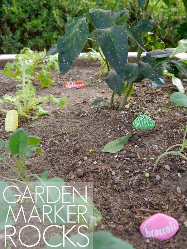 DIY rock garden markers