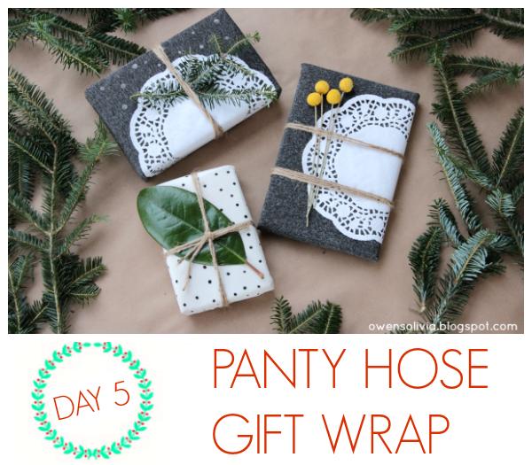Panty hose gift wrap