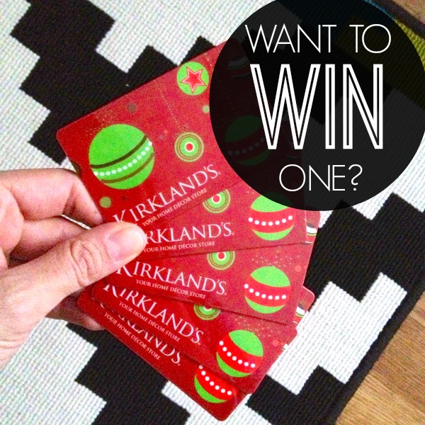 Kirklands door mat giveaway
