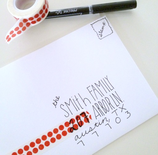 Clever Christmas card envelopes