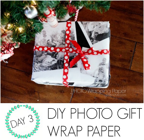 DIY Photo Gift Wrap Paper