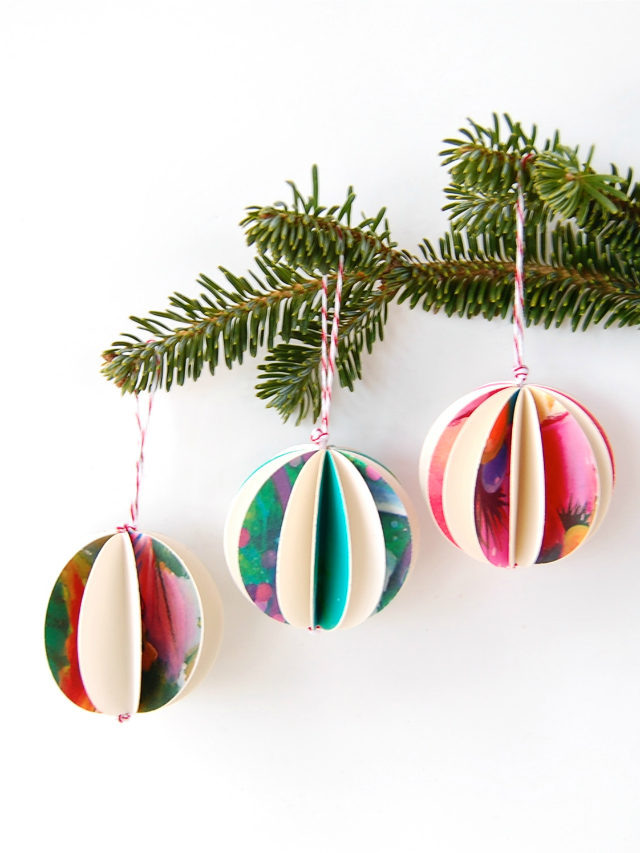 Recycled Christmas Ornaments