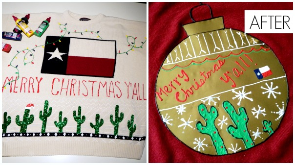 DIY Tacky Christmas sweaters