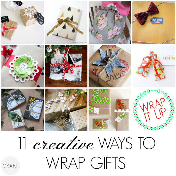 Creative ways to wrap gifts at C.R.A.F.T.
