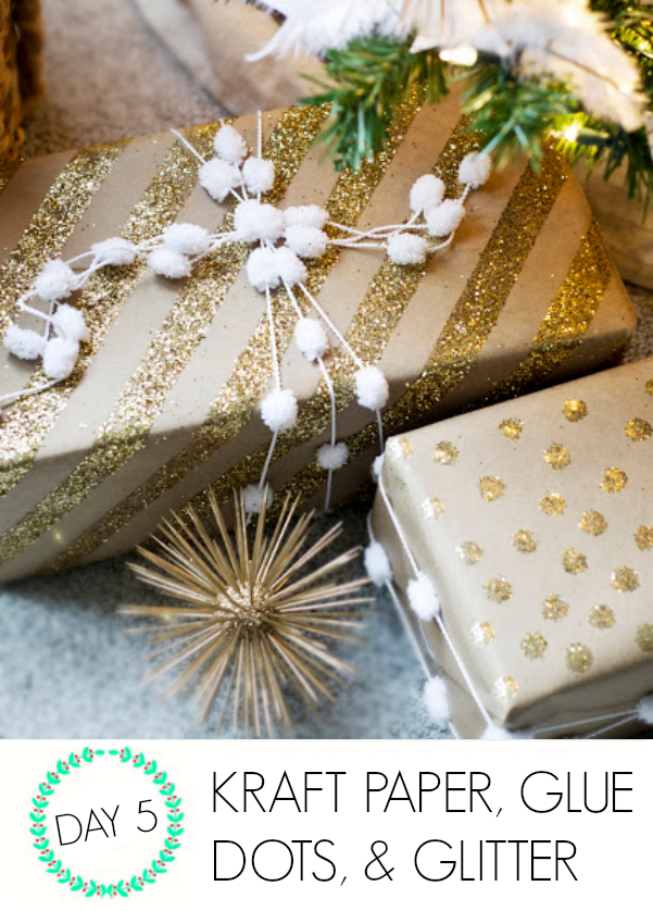 DIY gift wrap ideas with kraft paper