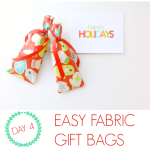 Wrap it Up #8: Easy fabric gift bags