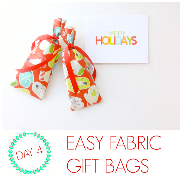 Easy fabric gift bags