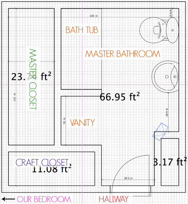 Bathroom remodel floor plan