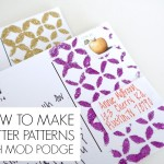 How to make glitter patterns with Mod Podge