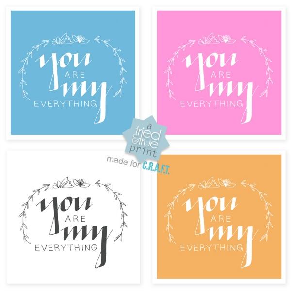 You are my everything valentines printables