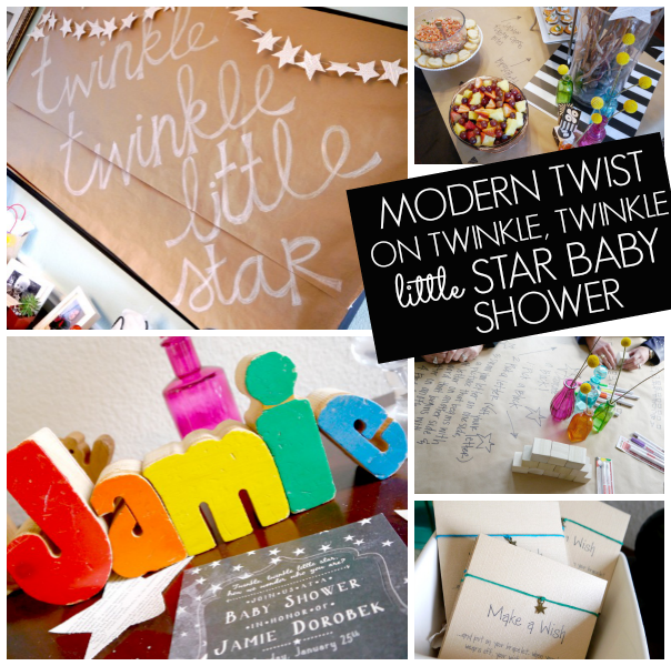 modern twinkle twinkle little star baby shower c r a f t