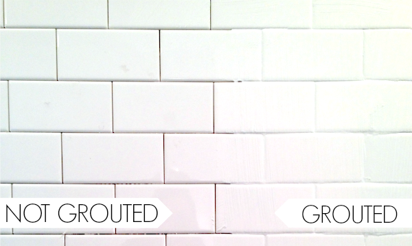 Bathroom remodel how to tile part 5 c r a f t for How to make grout white again