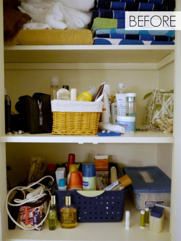 Organize a bathroom cabinet