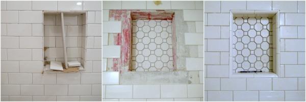 Tiling a shower shelf