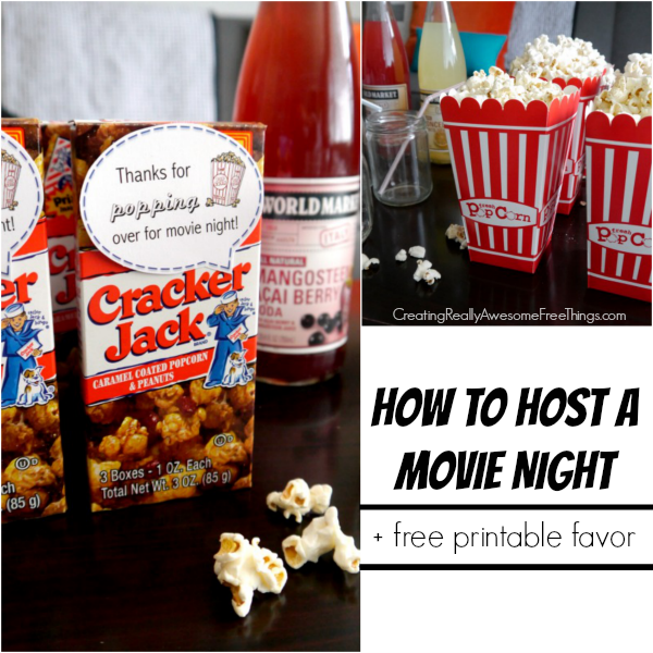 party ideas for a movie night at home c r a f t