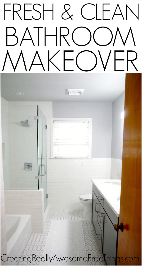 Fresh and clean bathroom makeover