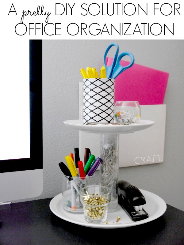 Here's an awesome diy organization idea for the office!