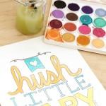 Free nursery printables {Hush little baby}