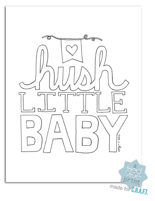 Free Nursery Printables Hush Little Baby C R A F T