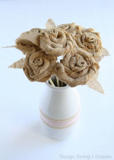 Burlap flower bouquet