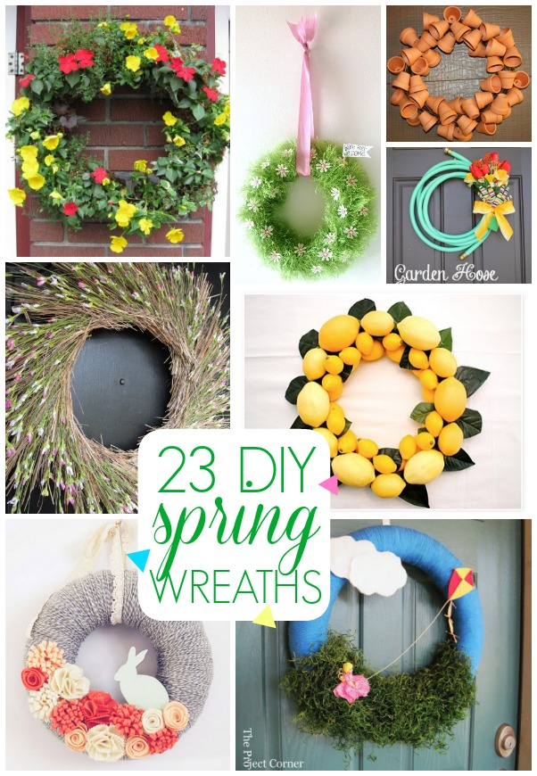 Spring Door Wreath Ideas Part - 48: 23 DIY Spring Wreath Ideas