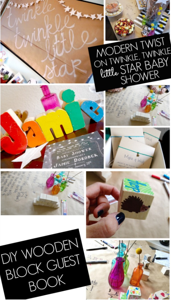 Modern twist on twinkle twinkle little star baby shower