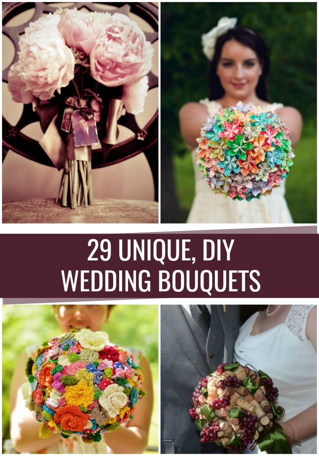 Unique DIY Wedding Bouquets