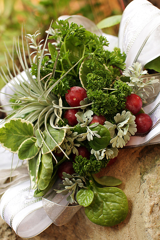 Vegetable and herb bouquet