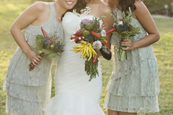 DIY vegetable wedding bouquet