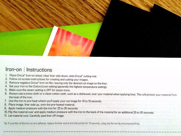 Iron on vinyl instructions Cricut Explore