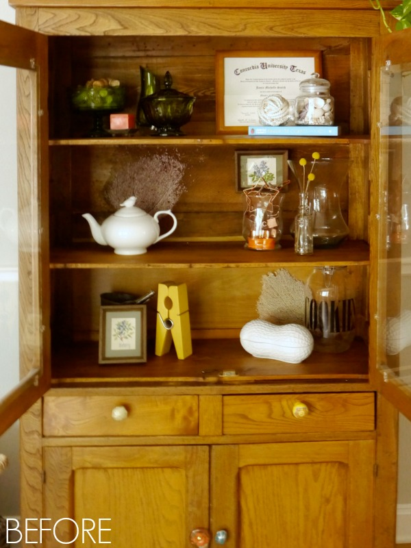 Jazzing up the pie safe with fabric loft