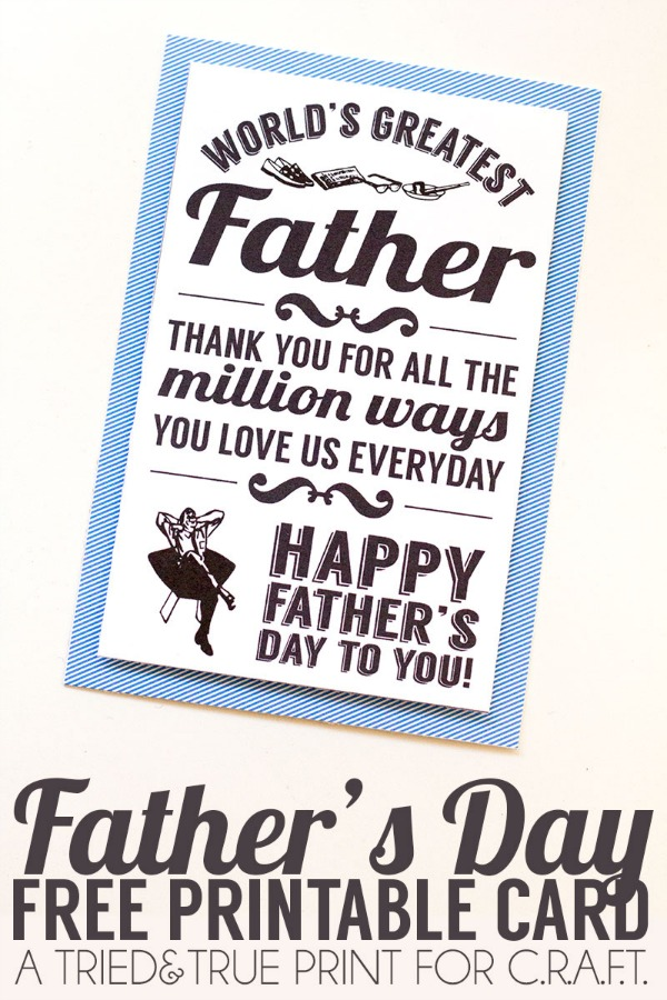 graphic regarding Father's Day Printable named Printable fathers working day playing cards - C.R.A.F.T.