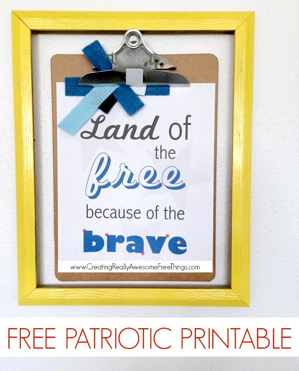 graphic relating to Free Printable Decor called 101 4th of July decorations + Free of charge printable - C.R.A.F.T.