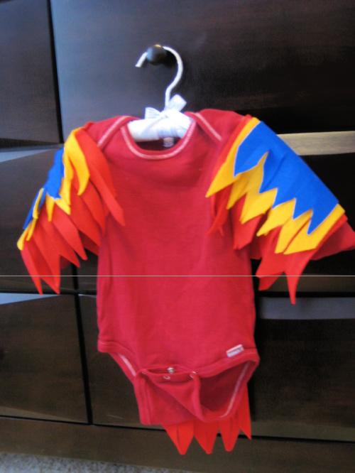 DIY baby parrot costume