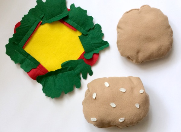 DIY Baby burger costume