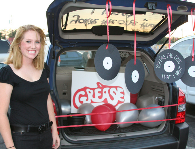 grease clever trunk or treat ideas