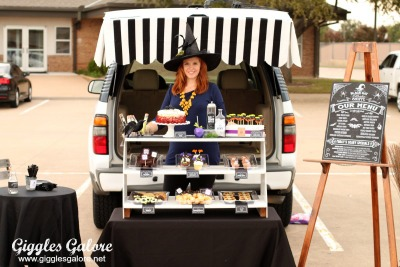 black hat bake shoppe clever trunk or treat ideas - Halloween Decorated Cars