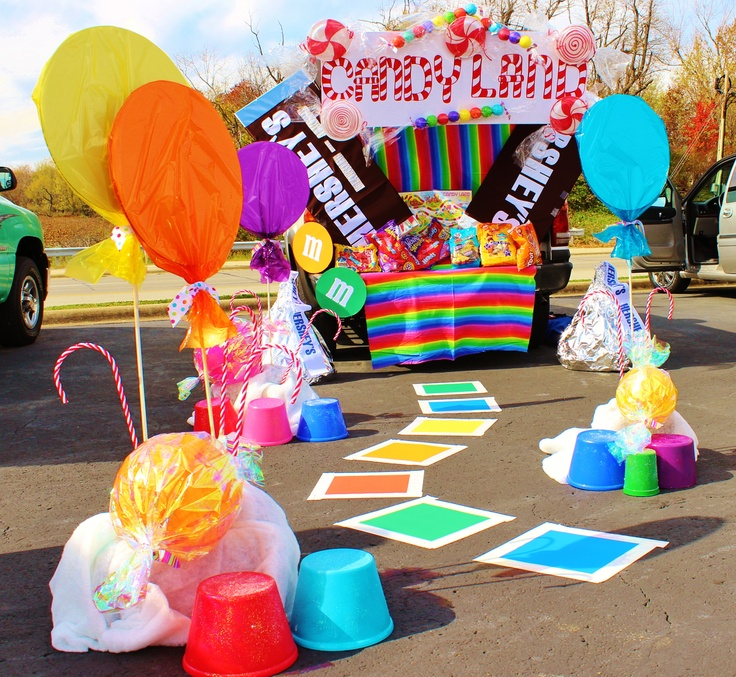 Candy Land Clever Trunk Or Treat Ideas